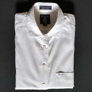 Faconnable White Textured Button Up Shirt